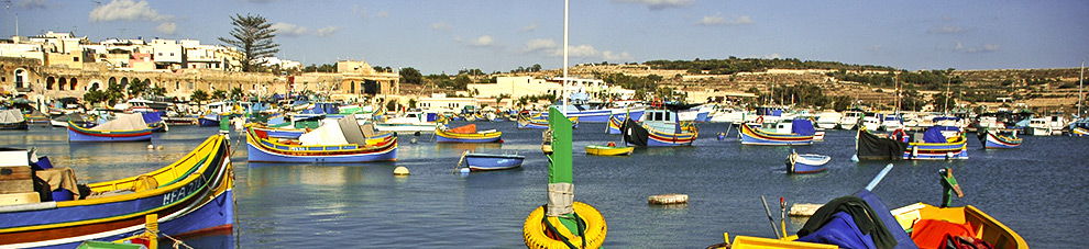 malta colourful boats