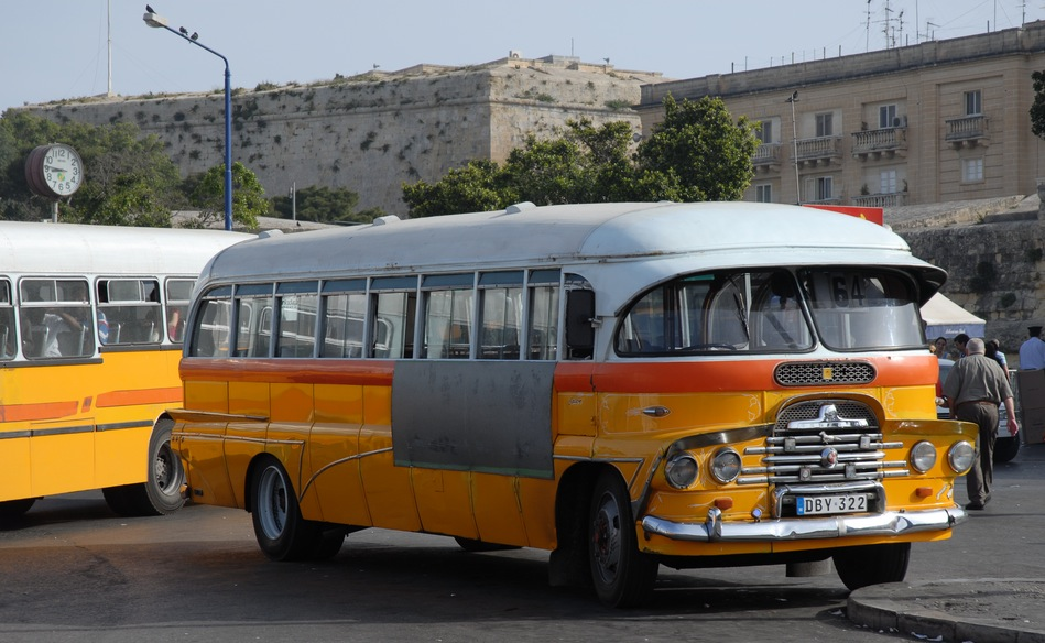 Malta traditional bus