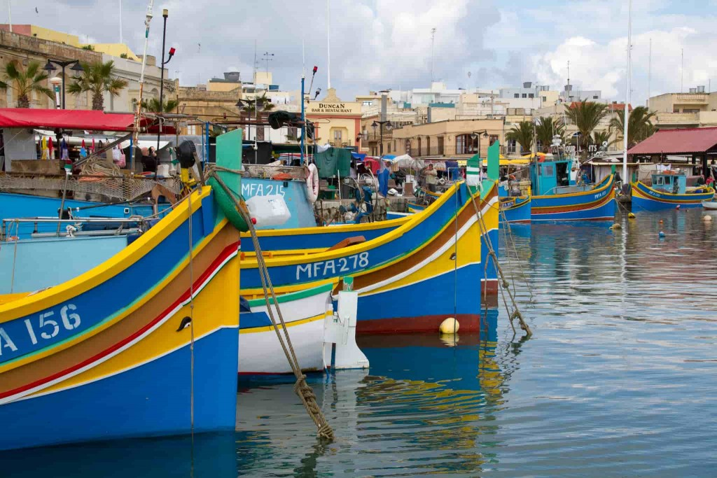 fishing boats marsaxlokk